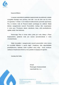 list zarządu spółki